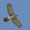 Juvenile in flight. Note: rounded tail and head projecting well beyond the straight leading edge of wing